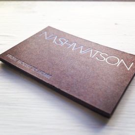 estate agent, Nash Watson business card designs