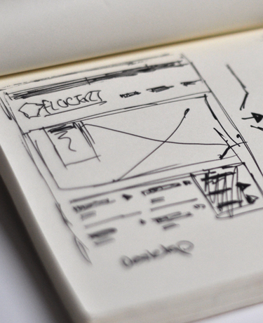 Flocert website design sketch