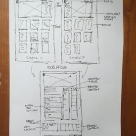 UI and UX sketch and design for BES website