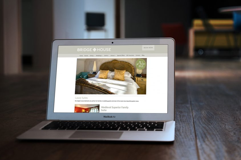 Bridge House website design