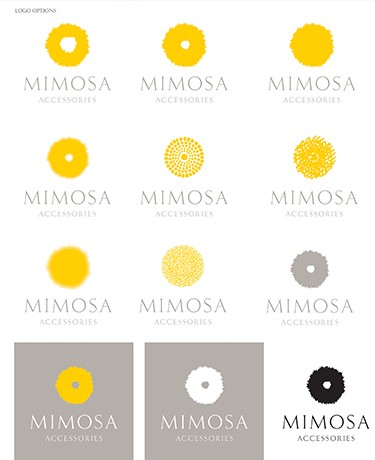 Mimosa logo options