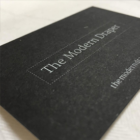 The Modern Draper business card designs