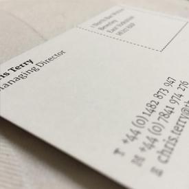 The Modern Draper business card designs