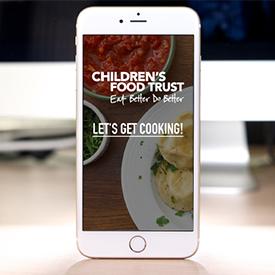 Healthy food app design for children