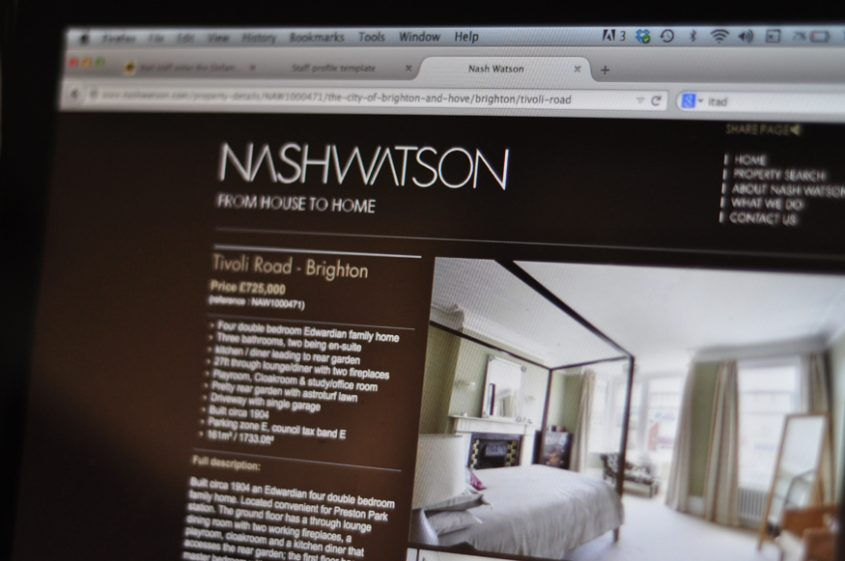 Nash Watson website design