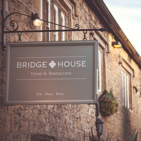 Bridge House Hotel and Restaurant branded signage design