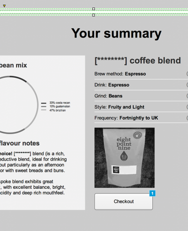 wireframe designs for coffee ecommerce website design