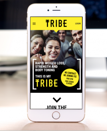Website design for Tribe HIIT club gym