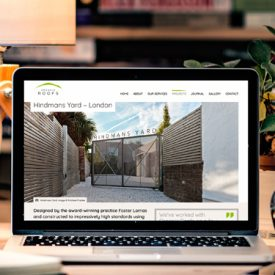 Green roof company website design