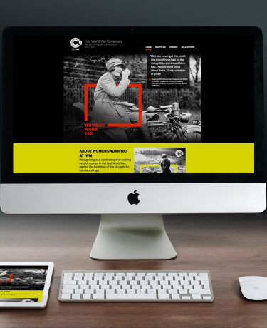 Imperial War museum website design